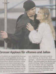 Grosser Applaus für Romeo und Julia