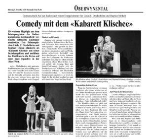 Comedy mit dem Kabarett Klischee